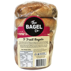 The Bagel Co - Bread Bagels - Fruit (5pk, 550g)