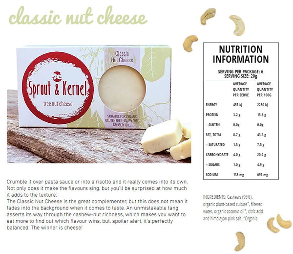 Sprout & Kernel - Cultured Cashew Cheese - Classic (120g)