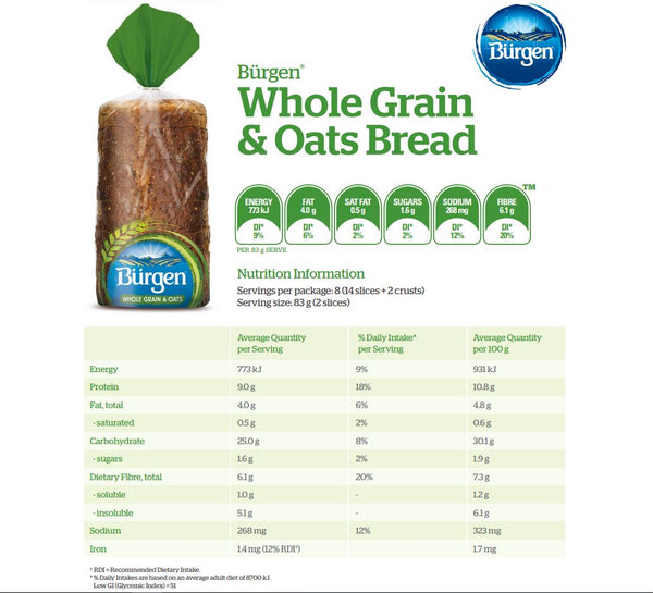Burgen Wholegrain and Oat 700g