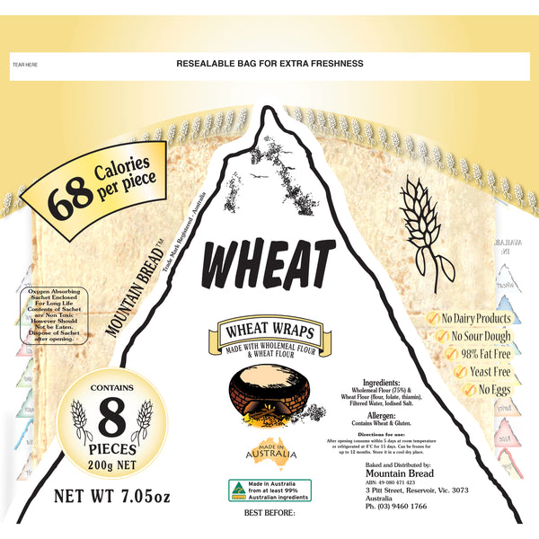 Mountain Bread - Wheat Wraps (8 pieces, 200g)