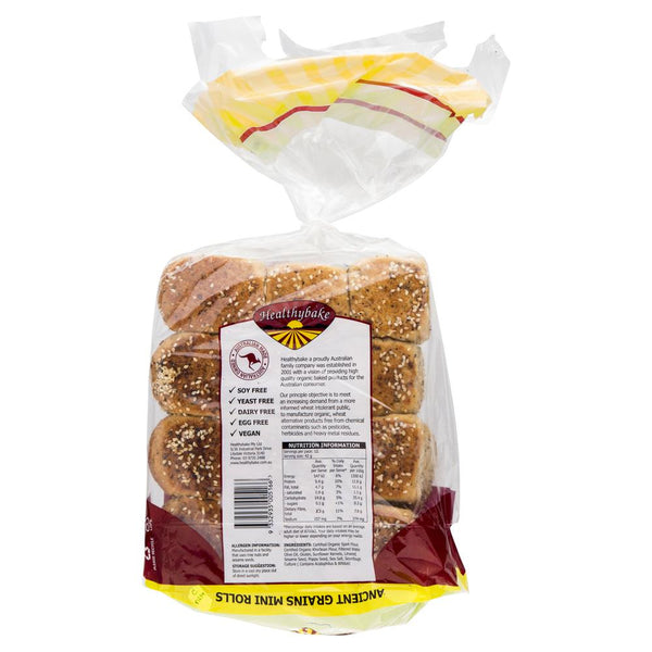 Healthybake Ancient Grains Mini Rolls 12PK , Z-Bakery - HFM, Harris Farm Markets  - 2
