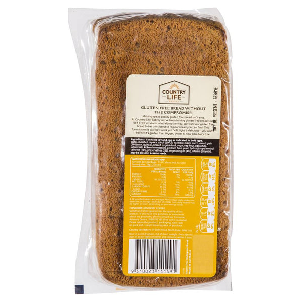 Country Life Bakery Gluten & Dairy Free Multigrain Bread 580g , Z-Bakery - HFM, Harris Farm Markets  - 2