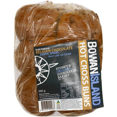Bowan Island - Hot Cross Buns - Belgian Chocolate and Exotic Spices (6 buns, 660g)
