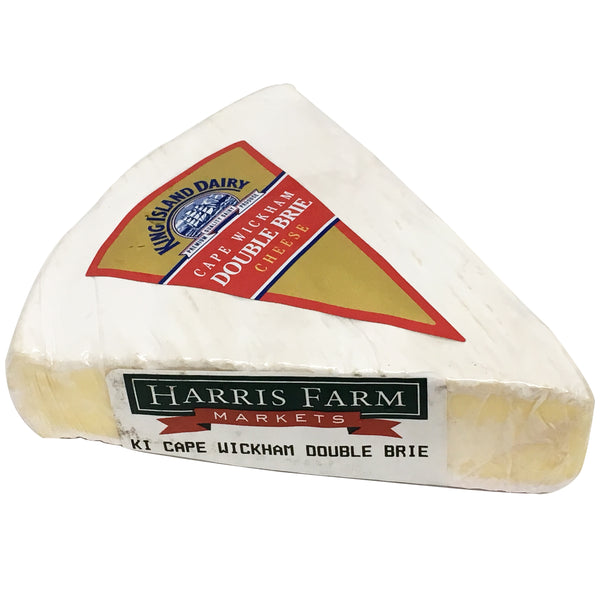 King Island Cape Wickham Double Brie Cheese | Harris Farm Online