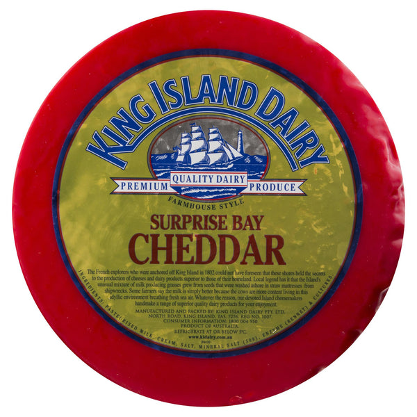 King Island Surprise Bay Cheddar Whole Wheel | Harris Farm Online