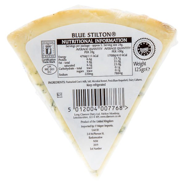 Blue Cheese Clawson Stilton 125g , Frdg1-Cheese - HFM, Harris Farm Markets  - 2