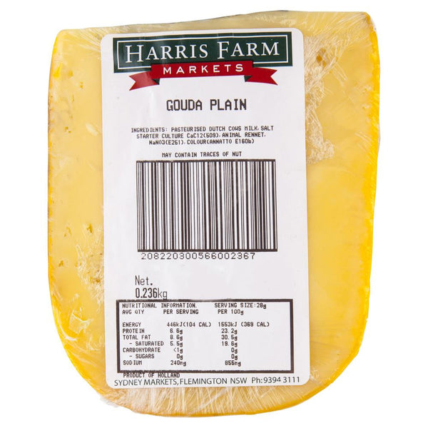 Gouda Plain 180-230g , Frdg1-Cheese - HFM, Harris Farm Markets  - 2