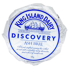 Brie King Island Discovery Ash 175g , Frdg1-Cheese - HFM, Harris Farm Markets  - 1