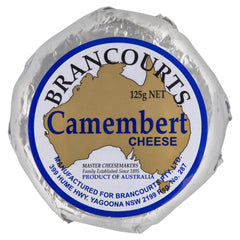 Brancourts Camembert Cheese 125g , Frdg1-Cheese - HFM, Harris Farm Markets  - 1