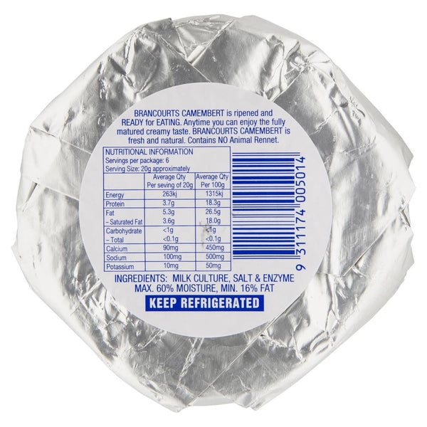Brancourts Camembert Cheese 125g , Frdg1-Cheese - HFM, Harris Farm Markets  - 2