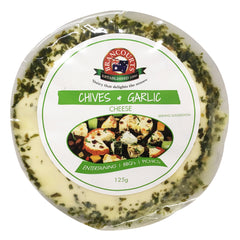 Flavoured Cream Cheese - Garlic & Chives (125g) Brancourts