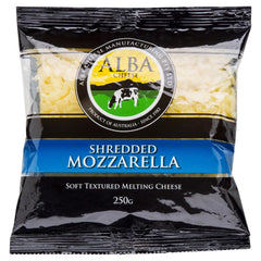 Mozzarella Alba Shredded 250g , Frdg1-Cheese - HFM, Harris Farm Markets  - 1
