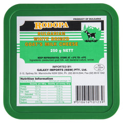 Goat Cheese Rodopa Bulgarian White Brined 250g , Frdg1-Cheese - HFM, Harris Farm Markets