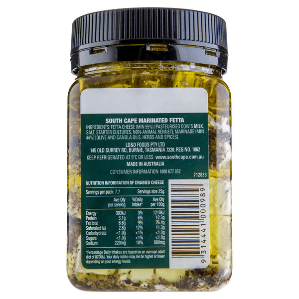 Fetta South Cape Marinated 350g , Frdg1-Cheese - HFM, Harris Farm Markets  - 2