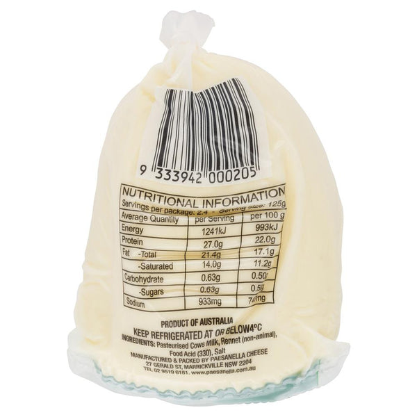 Paesanella Fresh Fiore Di Latte 300g , Frdg1-Cheese - HFM, Harris Farm Markets  - 2