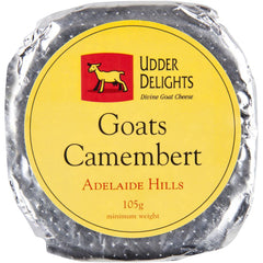Camembert Udder Delights Divine Goat 105g , Frdg1-Cheese - HFM, Harris Farm Markets  - 1