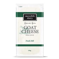 Goat Cheese - Che'vre - with Fresh Dill (150g) Meredith Dairy