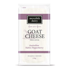 Meredith Dairy - Goat Cheese - Fresh Che'vre - Australian Native Pepperberry | Harris Farm Online