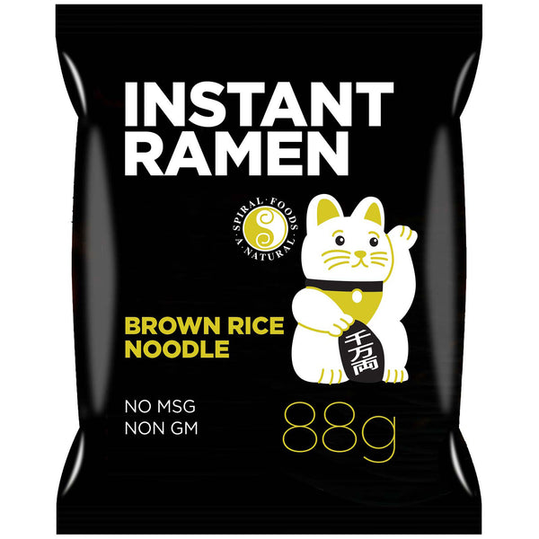 Spiral Foods Instant Ramen Brown Rice Noodle With Shoyu Soup Base 88g
