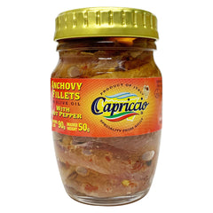 Capriccio - Anchovy Fillets - with Hot Pepper - In Olive Oil (90g)