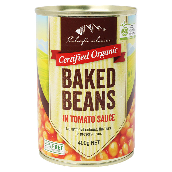 Chef's Choice - Organic Baked Beans In Tomato Sauce | Harris Farm Online