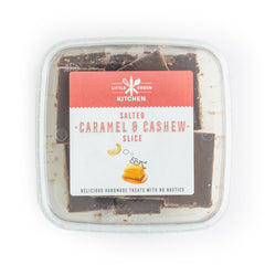 Little Green Kitchen Salted Caramel and Cashew Slice | Harris Farm Online