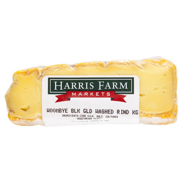 Washed Rind Woombye Black Gold 80-120g , Frdg1-Cheese - HFM, Harris Farm Markets  - 2