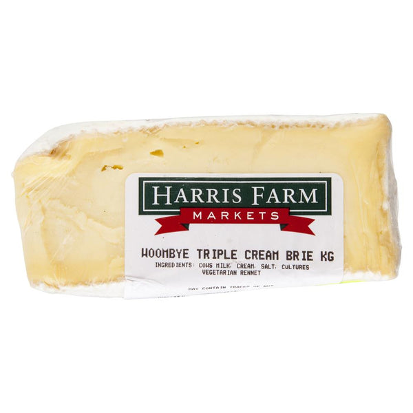Brie Woombye Triple Cream Truffle 110-160g , Frdg1-Cheese - HFM, Harris Farm Markets  - 2