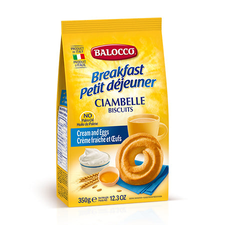 Balocco - Biscuits Ciambelle - Cream and Eggs (350g)