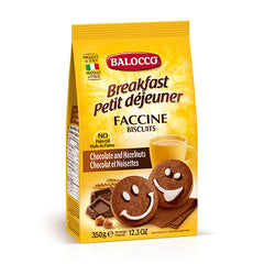 Balocco - Biscuits Faccine - Chocolate and Hazelnuts (350g)