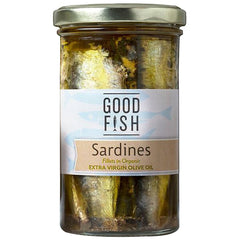 Good Fish - Sardines Fillets - in Organic Extra Virgin Olive Oil (260g)