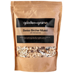 Goodies and Grains - Swiss Bircher Muesli - with Dried Apricots (400g)