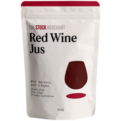 The Stock Merchant - Beef Stock - Free Range Red Wine Jus (300g)
