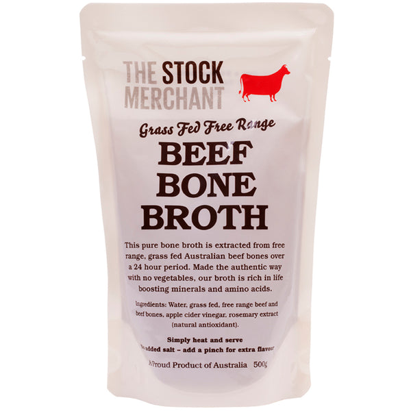The Stock Merchant Grass Fed and Free Range Beef Bone Broth | Harris Farm Online