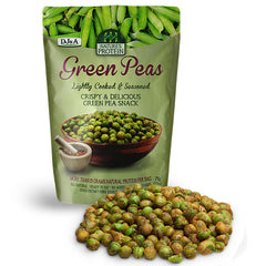 DJ & A - Green Peas Snack - Lightly Cooked & Seasoned (75g)