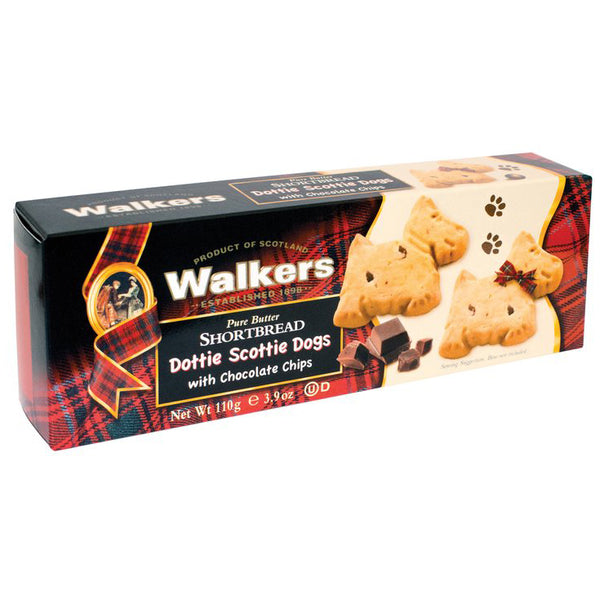 Walkers - Shortbread Dottie Scottie Dog - With Chocolate Chips (110g)
