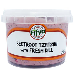 Fifya Vegan - Dips - Beetroot Tzatziki with Fresh Dill | Harris Farm Online
