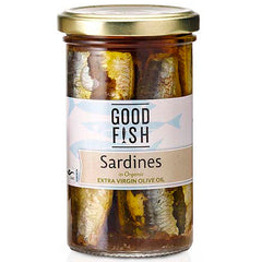 Good Fish Sardines in Organic Extra Virgin Olive Oil | Harris Farm Online