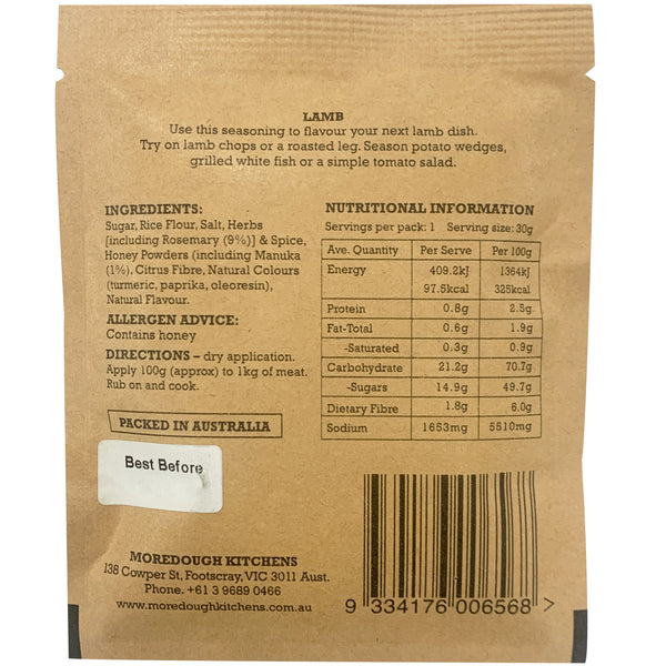 Moredough Kitchens Lamb Seasoning | Harris Farm Online