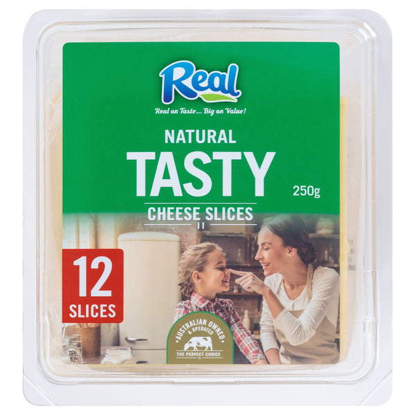Cheddar Slices (12 slices, 250g) Real