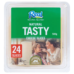 Real Cheddar Cheese Slices x24 500g