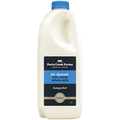 Paris Creek Farms Bio-Dynamic Full Cream Milk | Harris Farm Online