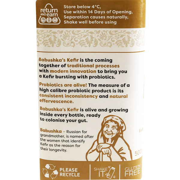 Babushka - Yoghurt Probiotic Kefir - Milk and Honey (500g)