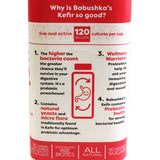 Babushka Yoghurt Probiotic Kefir Strawberries Cream 500g