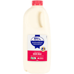 Barambah Organics - Milk Skim - Unhomogenised Cream Top (2L)