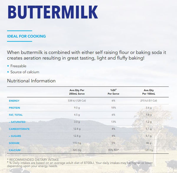 Dairy Farmers - Butter Milk (600mL)