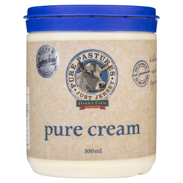 Pure Pastures Just Jersey Pure Cream 300ml , Frdg2-Dairy - HFM, Harris Farm Markets  - 1