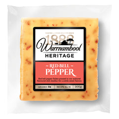 Cheddar - Red Bell Pepper Club (200g) Warrnambool
