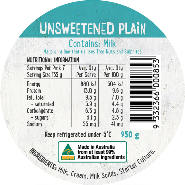 Harris Farm - Yoghurt Unsweetened Plain | Harris Farm Online