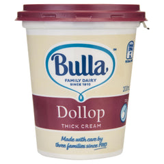 Bulla Cream Thick Dollop 200ml , Frdg2-Dairy - HFM, Harris Farm Markets  - 1